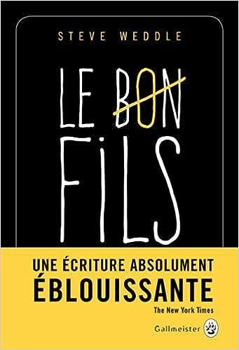 Steve Weddle - Le Bon Fils (2016)