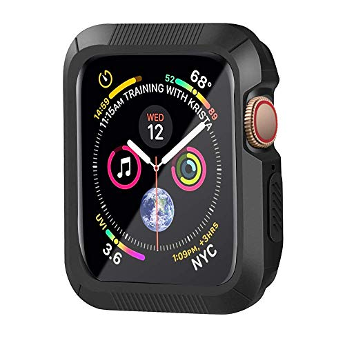 HONEJEEN Compatible with Apple Watch Case Series 4 40mm, Shock Proof and Shatter-Resistant Protective Bumper Case Replacement for iWatch Series 4 - Black