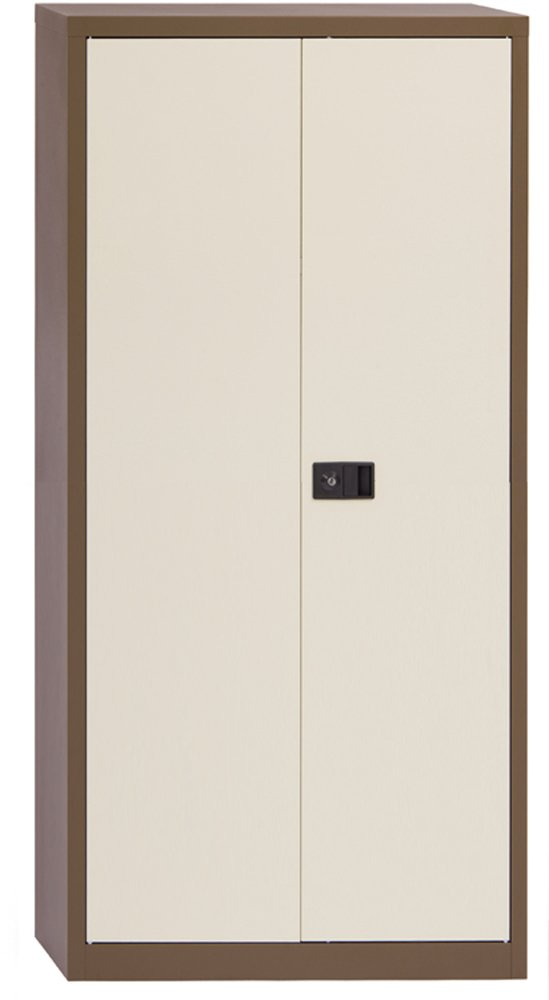 Office Hippo Bisley Contract Stationery Cupboard, 100 cm high - Coffee Cream E402A01C/C