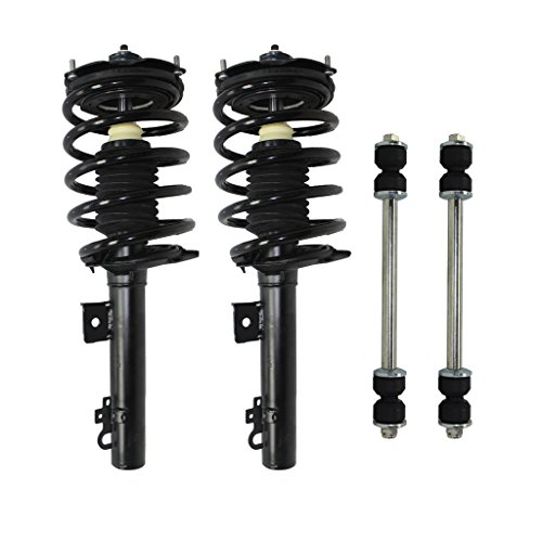 Sedan Only - Both (2) Rear Driver & Passenger Side Complete Strut & Spring Assembly with (2) Sway Bar End Links - Sedan ONLY