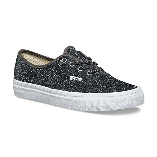 c7fce42f3d Vans Authentic (Lurex Glitter) Black True White VN0A38EMU3T Skate Shoes