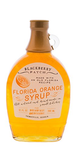 Blackberry Patch Florida Orange Syrup All Natural Handmade In Small Batches | For breakfast pancakes and waffles or drizzled over fresh fruit. (12 fl oz, Florida ()