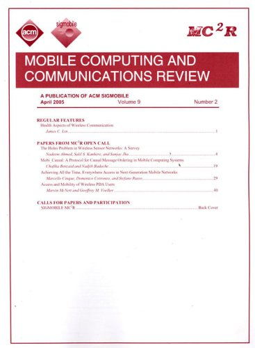 (Mobile Computing and Communications Review - Sigmobile)