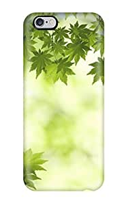 Hu Xiao Aarooyner Premium protective case cover For Iphone 6 Plus- Nice Design Kt60p54LWIg - Green Maple Leaves
