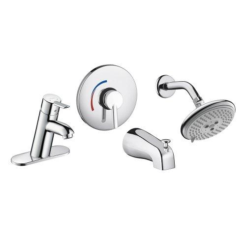 Focus Tub Spout (Hansgrohe 04443000 Focus S Single Hole Faucet And Shower System Set,)