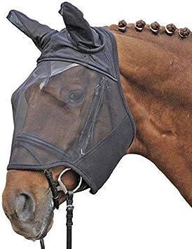 HKM 40739100 - Máscara antimoscas (Talla L), Color Negro