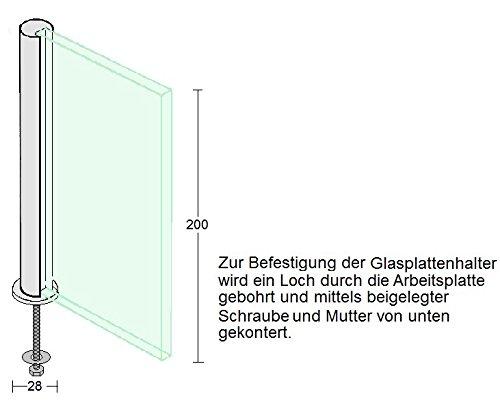 Spritzschutz Protect Herd Kochinsel Edelstahl mit Glasplatte 60cm Breite