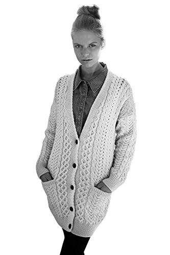 (Carraig Donn Ladies Merino Wool Grandfather Cardigan Sweater (Small))