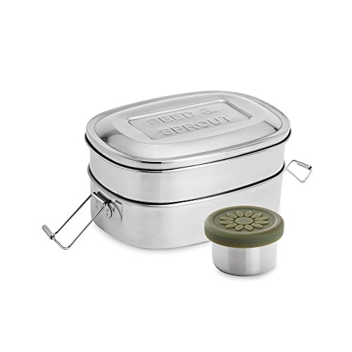 Best deals Stainless Steel Insulated Metal Lunch Bento Box Set. Layer, Compartment Japanese Divided Tiffin Stacking Eco
