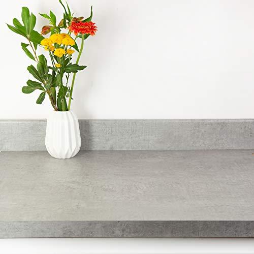 WORKTOP EXPRESS Woodstone Grey Stone Effect Laminate Kitchen Worktops (Edging Strip – 1300mm X 42mm)
