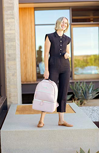 Petunia Pickle Bottom Axis Backpack, Blush Leatherette, One Size