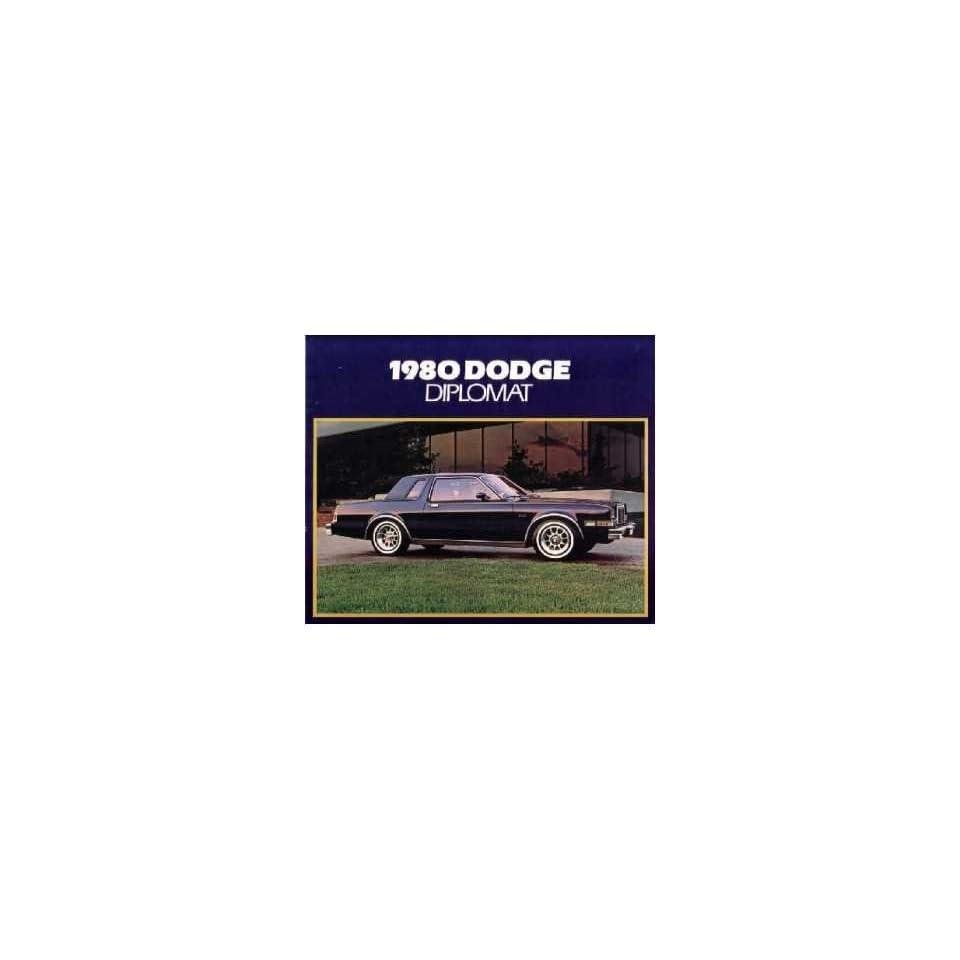 1980 Dodge Diplomat Sales Brochure Literature Advertisement Options Specs