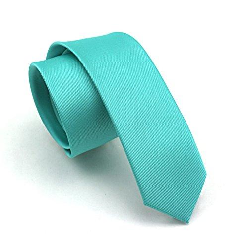 Elviros Mens Eco-friendly Fashion Solid Color Slim Tie 2.4'' (6cm) ()