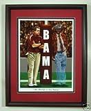Alabama Football Nick Saban and Bear Bryant Print Framed