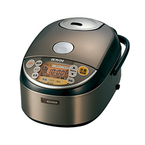 Zojirushi Pressure Ih Rice Cooker 5.5 Go Stainless Brown Np-ni10-xt