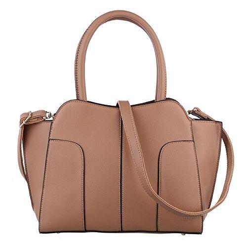 Señoras Sólida Bolso Bolsa Bag Clásico Bolso Commuter Rosa Messenger Retro Brown GWQGZ Nuevo E5RFqxWW8