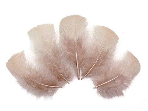ERGEOB 100 stück DIY Schmuck Zubehör Flathead Truthahnfeder Masken Dekormaterial Kinder Basteln Bühnen 8-15cm