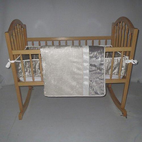 Image of bkb Velvet Crocodile Cradle Bedding, Beige, 15 x 33 Home and Kitchen