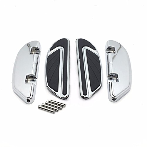 HTT- Chrome Airflow Passenger Footboard Kits For Harley 2006-later Dyna/ 2000-later Softail/ 1986-later Touring models equipped with passenger footboard supports