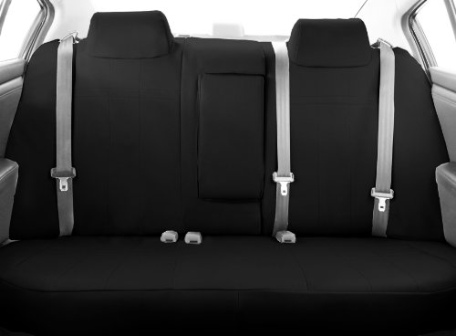 CalTrend Middle Row 40/60 Split Bench Custom Fit Seat Cover for Select Toyota Highlander Models - DuraPlus (Black)