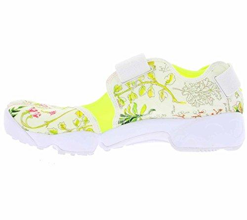 Nike Womens Air Rift Lib Qs Hardloopschoenen 848476 Sneakers Schoenen Liberty-white / Volt-vachetta Tan
