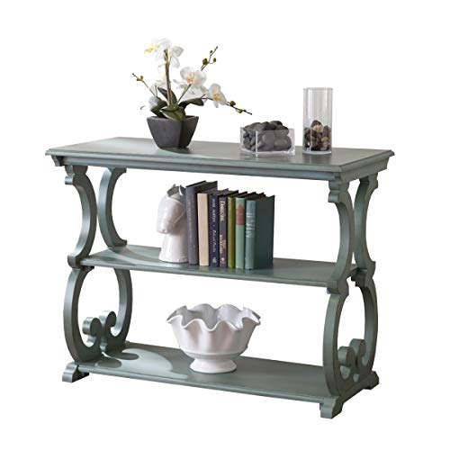Lamp Scroll Table Antiqued - Southern Enterprises Bradbury Scroll Console Table in Agate Green