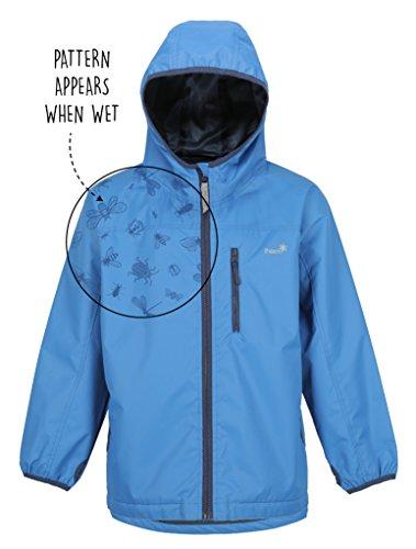 Therm SplashMagic Raincoat, Lightweight Waterproof Boys Rain Jacket with Magic Pattern