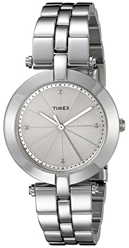 - Timex Women's TW2P79100AB City Collection Analog Display Quartz Silver Watch