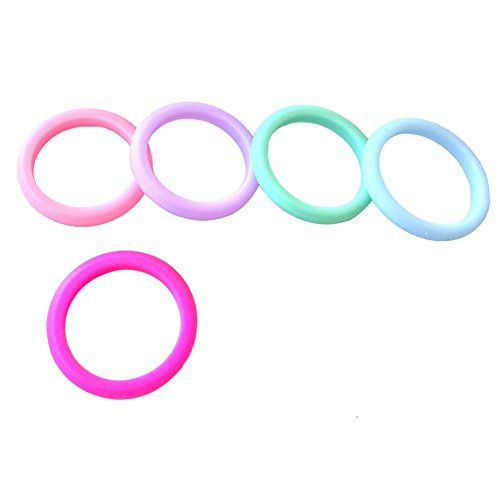 IAYA 5 Pack Silicone Wedding Ring Size 5 Stackable Silicone Rings Wedding Bands Women Climbing Ring