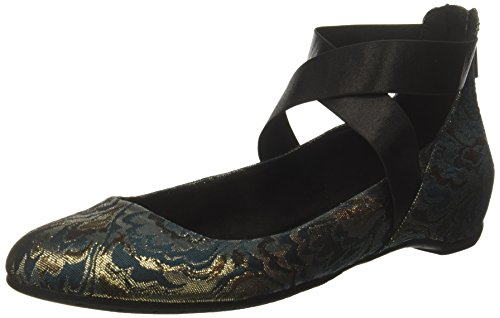 Fabric Ankle Strap - Kenneth Cole REACTION Women's Pro-Time Elastic Ankle Strap, Back Zip-Fabric Ballet Flat