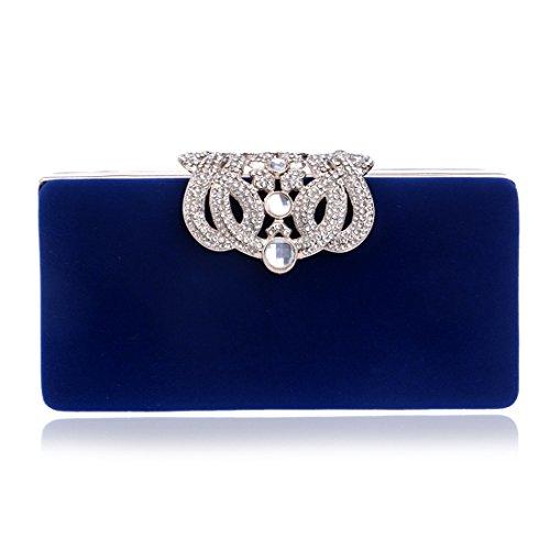 moda da Borsa sera Sacchetto la donna da la Sacchetto blu per a colore viola cena volpe di forma di cerimonia di per banchetto Uq6wTqH