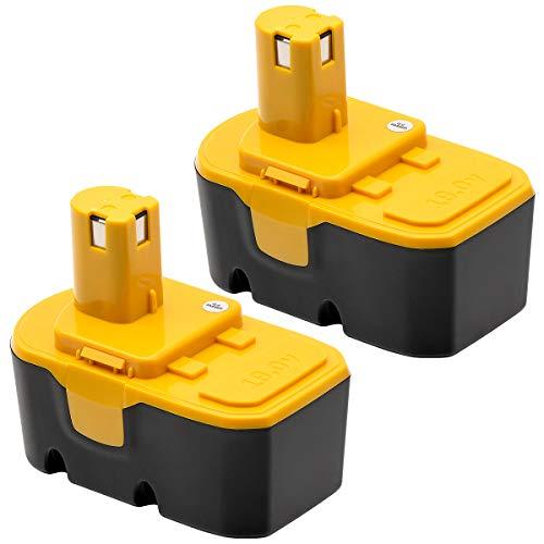 KINGTIANLE 2 Pack 3600mAh Ryobi 18V Battery Replacement Compatible with Ryobi ONE+ Ryobi P100 P104 P105 P110 130224007 High Capacity Cordless Power Tools 18 Volt Batteries ()