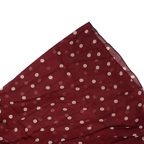 b34e959ead7810 Miayon Women s Polka Dots Maxi Dress Sleeveless Long Chiffon Dresses Casual  Summer Dress (Wine red