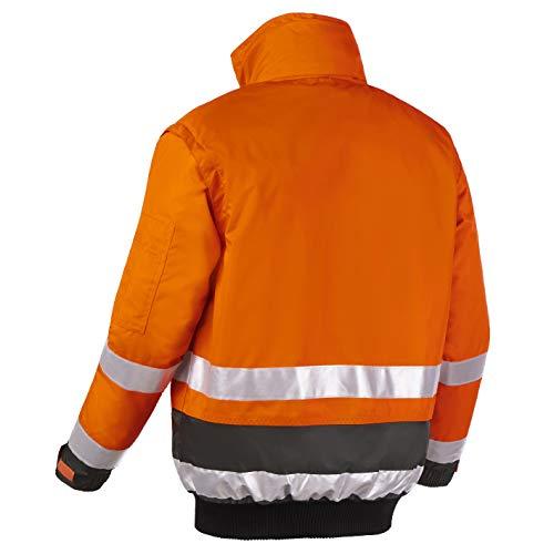 teXXor 4107 Warnschutz-Pilotenjacke Vancouver wasserdichte L winddichte Arbeitsjacke orange L
