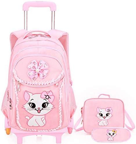 Ly-lgb Trolley Schoolbag schoolbags Female Childrens Trolley Bag Middle School Student Trolley Bag