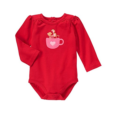 Gymboree Baby Mouse Hot Chocolate Bodysuit, Red Zone, 6-12 (Clearance Baby)