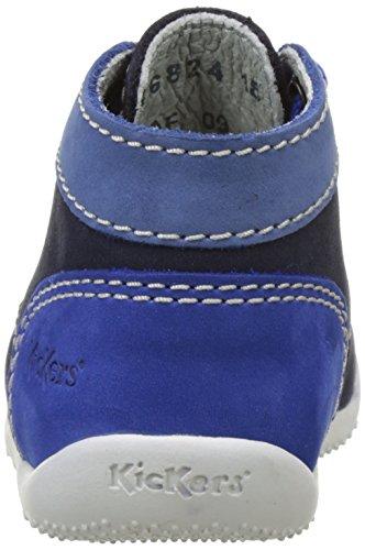 KickersBonbon - Zapatillas altas Bebé-Niñas Bleu (Marine Bleu Bleu)