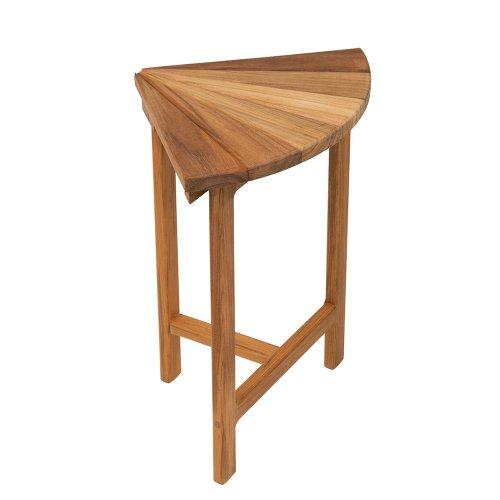 11.5 x 18 Teak Corner Fan Bench/Seat for Shower