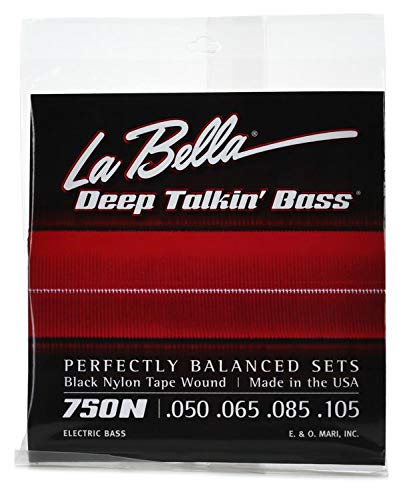 La Bella 750N Black Nylon Tapewound Bass Strings - ()