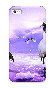 Iphone 5c Case, Premium Protective Case With Awesome Look - Red Crowned Cranes Japan