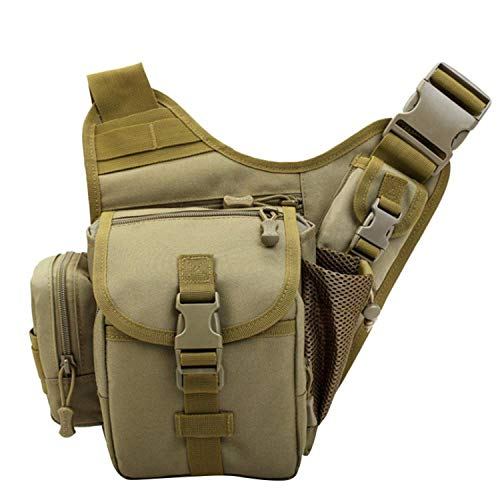 Outdoor Fishing Bag Men Thigh Bag Utility Waist Pack Leg Pocket Enthusiasts Equip,Brown (Equip Rescue)
