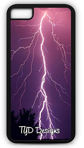 iPhone 6 Plus 6+ Case Lighting Thunderstorm Weather Pattern Climate Change Customizable TYD Designs in Black Plastic