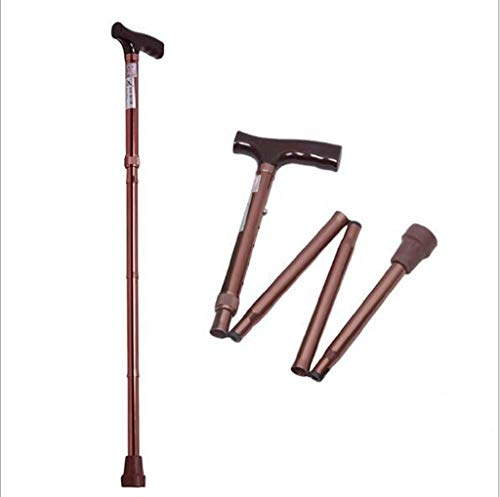 Maple_Leaf Adjustable Cane Non-Slip Hurrycane Folding Walking Stick Hiking Stick Aluminum Folding Cane Elderly Climbing Cane Lightweight Adjustable Walking Cane Balance