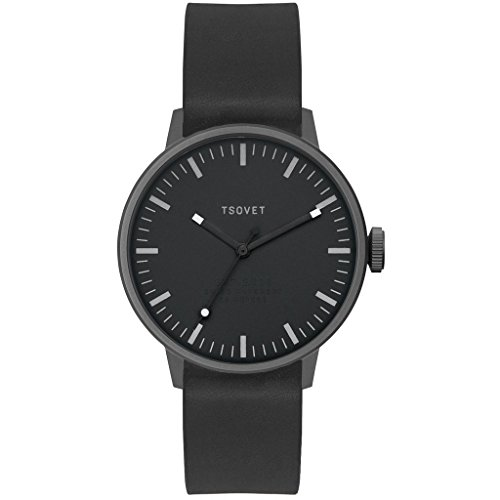 Tsovet-SVT-SC38-Analog-Quartz-GunmetalBlack-w-WhiteBlack-Watch