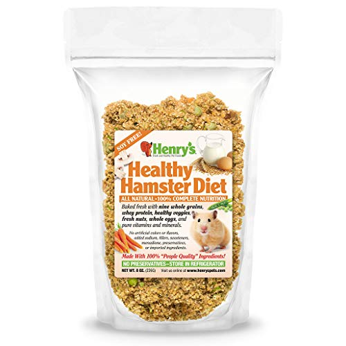 Henrys Hamster Food - The Only All Natural Baked Fresh To Order, 8 ounces