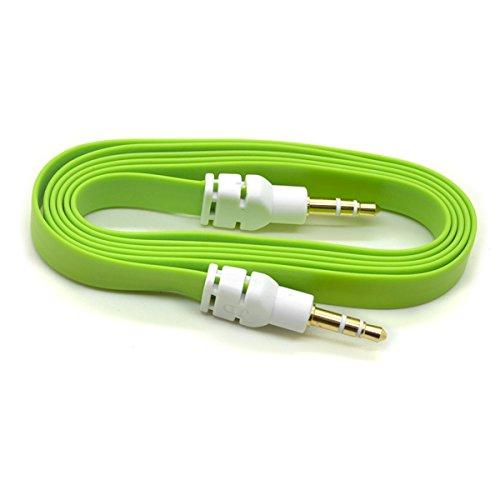 Brilliant Esecutivo Verde 3.5mm stereo jack maschio a maschio cavo AUX Appartamento Nessuna groviglio tagliatella cavo per Apple Ipad ipad4 Air Ipad mini iPhone 6/6 +, 5 / 5s, 5C, Ipod Samsung S5, S4,