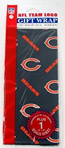 Chicago Bears Team Gift Wrap