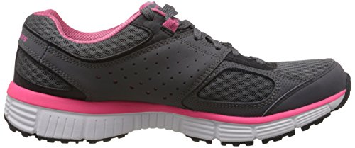 Skechers Womens Behendigheid Perfect Fit 11903 Trainingsschoen Houtskool / Hot Pink