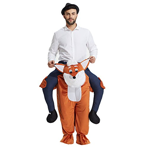 YEAHBEER Piggyback Ride On Riding Shoulder Adult Costume Carry Me Unisex Fancy Dress (Fox)