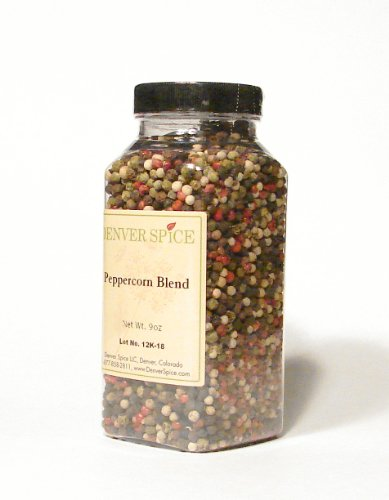 (Peppercorn Blend Jar - Attractive and Large Clear Easy-Grip Jar by Denver Spice)